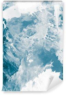 Självhäftande Fototapet Blå marmor textur