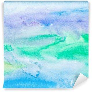 Självhäftande Fototapet Färg stroke akvarellmålning konst