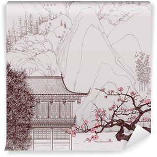Självhäftande Fototapet Kinesiska landskapet