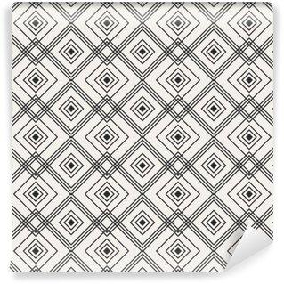Självhäftande Fototapet Seamless geometriskt mönster