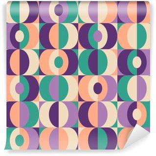 Självhäftande Fototapet Seamless tappning geometriskt mönster