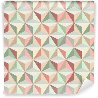 Självhäftande Fototapet Triangle sömlösa mönster 1