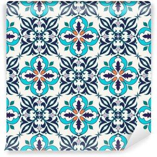 Självhäftande Fototapet Vektor smidig konsistens. Vackra färgade mönster för design och mode med dekorativa element