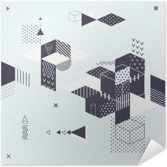 Självhäftande Poster Abstrakt modern geometrisk bakgrund