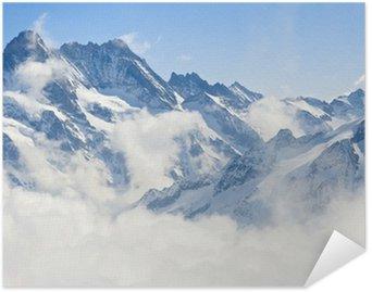 Självhäftande Poster Jungfraujoch Alperna fjällandskap