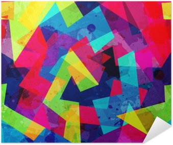 Självhäftande Poster Ljusa geometriska seamless med grunge effekt