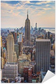 Självhäftande Poster New York City på skymningen