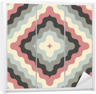 Skåpdekor Abstrakt retro geometriskt mönster