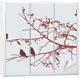 Skåpdekor Fåglar på våren