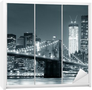 Skåpdekor New York Brooklyn Bridge