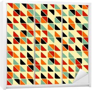 Skåpdekor Retro abstrakt sömlösa mönster med trianglar