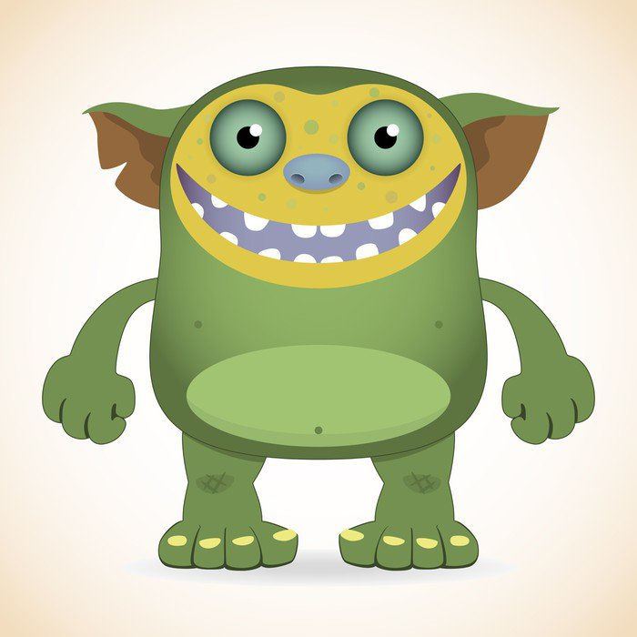 Smiling green monster