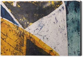 Stampa su Alluminio (Dibond) Geometria, batik caldo, texture di sfondo, fatto a mano su seta, il surrealismo arte astratta