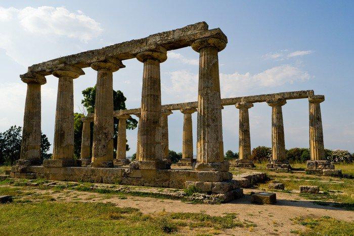 Obraz na Płótnie Starożytna Grecja, Temple of Hera z Metapontum - Europa