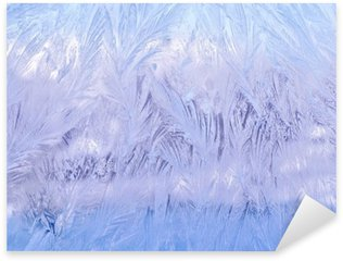 декоративный морозный узор на стекле Sticker - Pixerstick