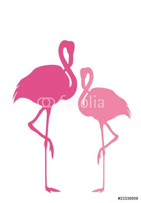 Sticker - Pixerstick 2 Flamingos - Wall decals