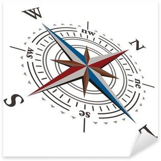 3 D Vector wind rose compass Sticker - Pixerstick