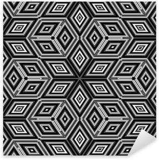 Pixerstick Sticker 3d abstracte kubussen die lijkt op een Escher illustratie