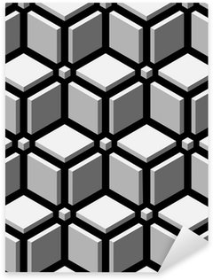 Pixerstick Sticker 3d blokken naadloos patroon