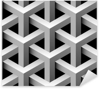 Pixerstick Sticker 3d industriële naadloze patroon