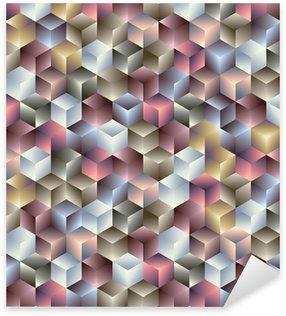 Pixerstick Sticker 3d kubussen geometrische naadloze patroon.