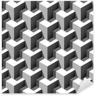 Sticker Pixerstick 3d motif de cubes