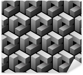 Sticker Pixerstick 3d seamless pattern