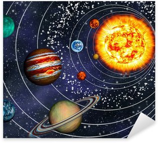 Pixerstick for All Surfaces 3D Solar System: 9 planets in their orbits