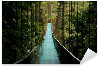 a hanging bridge in the costa rican jungle Sticker - Pixerstick