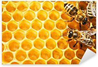 Sticker Pixerstick Abeilles sur honeycells