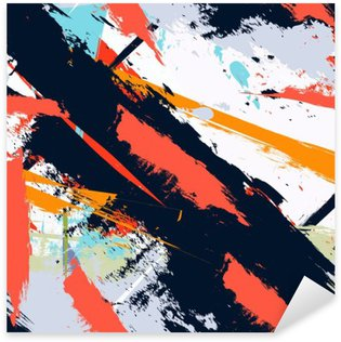 Abstract art grunge distressed seamless pattern Pixerstick Sticker