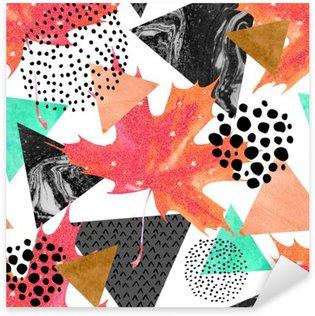 Sticker - Pixerstick Abstract autumn geometric seamless pattern.