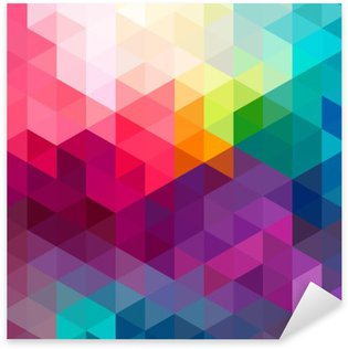 Sticker Pixerstick Abstract colorful seamless fond