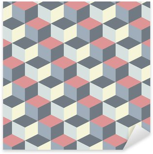 Sticker - Pixerstick abstract cubic geometric pattern background
