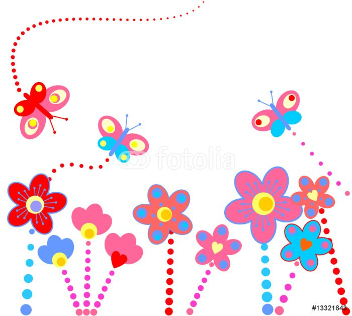 Sticker - Pixerstick Abstract floral background - Wall decals