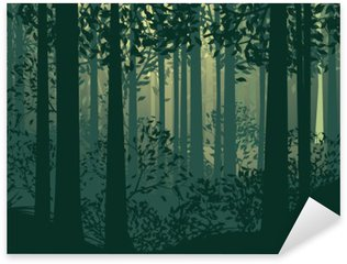 Sticker - Pixerstick Abstract Forest Landscape