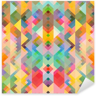 abstract geometric background with soft retro colors Sticker - Pixerstick