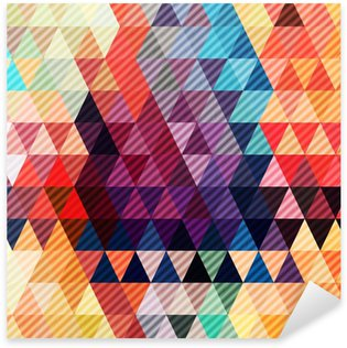 abstract geometric background with stylish retro colors Sticker - Pixerstick
