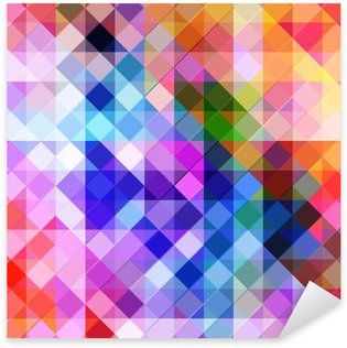 abstract geometric background with vibrant geometric shapes. Sticker - Pixerstick