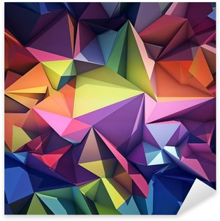 Sticker - Pixerstick Abstract geometric background