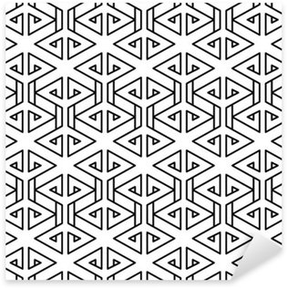 Abstract geometric black and white hipster fashion pillow pattern Pixerstick Sticker