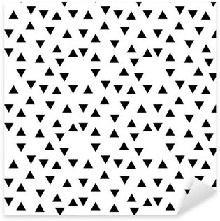 Abstract geometric black and white hipster fashion random triangle pattern Pixerstick Sticker