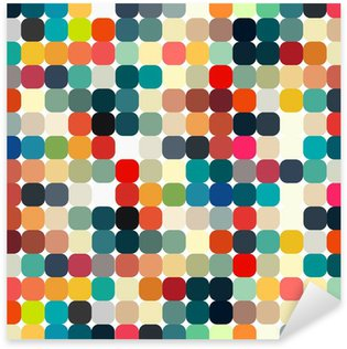 Sticker - Pixerstick Abstract geometric retro pattern seamless for your design
