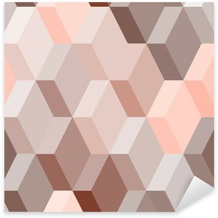 Sticker - Pixerstick Abstract geometric seamless pattern in pink and brown, vector