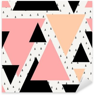 Pixerstick Sticker Abstract geometrische naadloos patroon.