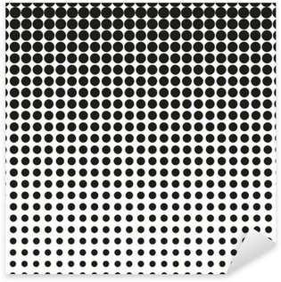 Sticker - Pixerstick Abstract halftone. Black dots on white background. Halftone background. Vector halftone dots. halftone on white background. Background for design
