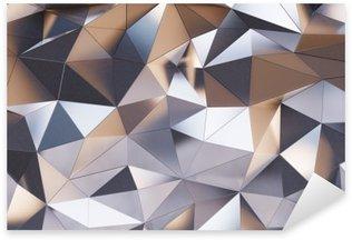 Sticker - Pixerstick Abstract metal wall