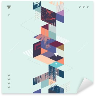 Abstract modern geometric background Sticker - Pixerstick