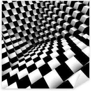abstract optical art Sticker - Pixerstick