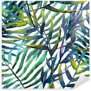 Pixerstick Sticker Abstract patroon met bladeren in waterverf